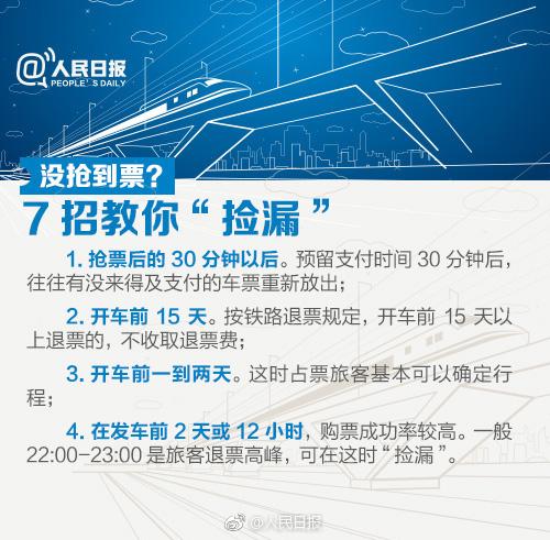 2018年春运火车票预售时间表  重要抢票时间点及实用购票攻略(4)