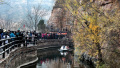 河南林州:初冬的红旗渠热度不减