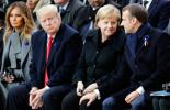 法德領導人紀念一戰結束批單邊主義 特朗普20分鐘毫無表情