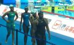 非洲选手慢1分钟游到终点,迎接她的是中国观众全场掌声