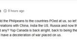 """菲總統為垃圾對加""""宣戰"""" 網友:加拿大淪為笑柄"""