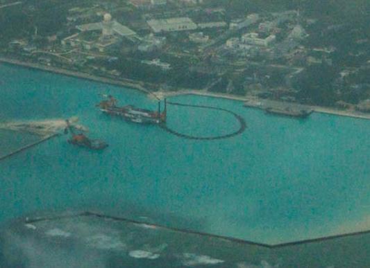 美媒:中国南海造岛面积一个月增加近50%