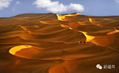 位于塔里木盆地中心,是世界第二大沙漠