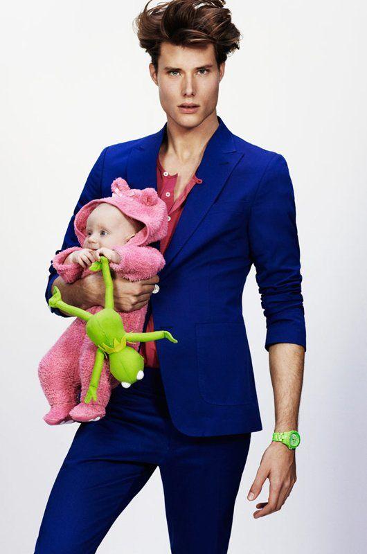 不会带娃的爸爸不是好模特!盘点模特界的超级奶爸