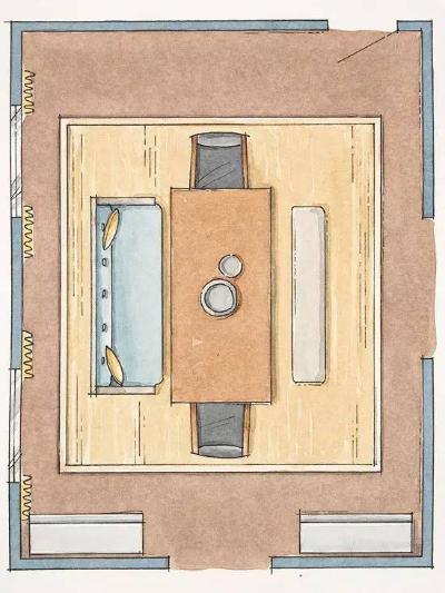 150平方长方形房子格局设计图