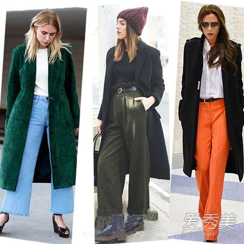 冬季阔腿裤如何搭配上衣