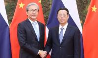 张高丽会见泰国副总理
