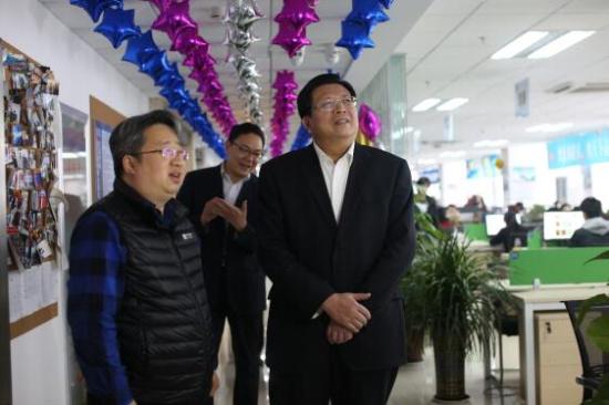 开工第一天,济南市委常委苏树伟到韩都衣舍·智汇蓝海
