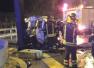 大连:面包车撞上限高杆 司机不幸遇难