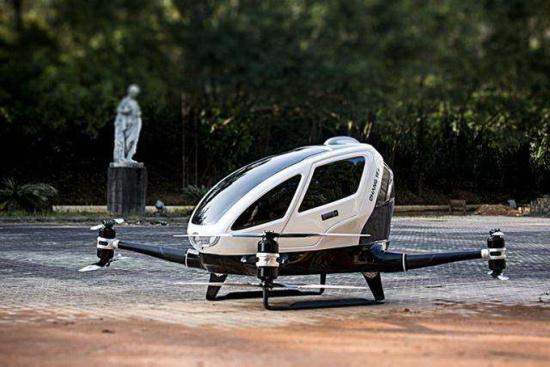 載客無人機亮相 一次能載重100公斤飛行50公里圖片