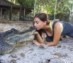 女子与鳄鱼亲吻成网红