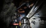 罐车凌晨撞上桥墩,1人被困!济南消防官兵急救援