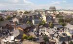 济南电影小镇老街将完成基础施工 7月完成主体结构