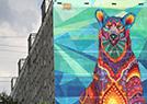 熊涂鸦亮相莫斯科