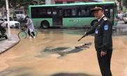 郑州工人路汝河路口涌水