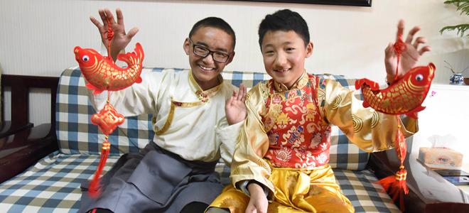 济南藏族中学生的别样除夕