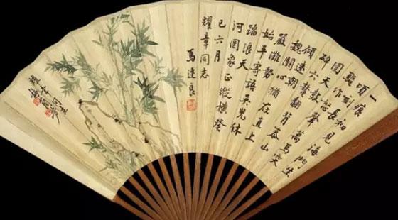 京剧扇子上的花纹素描图