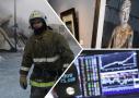 图说:俄鞋厂起火多人亡
