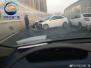 郑州周日早高峰发生3起车辆撞墙事故 致拥堵