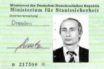 普京间谍身份证件曝光 曾是东德令人畏惧的史塔西秘密警察