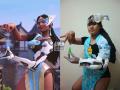 辣眼一如既往!泰国小胖最新超低成本cosplay