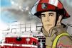 辽阳一位老人被困二楼雨搭 消防员架云梯救援