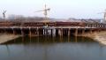 河南漯河:牡丹江路沙河大桥加紧建设