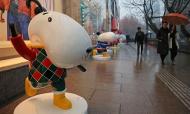 卡通狗亮相南京街头吸睛