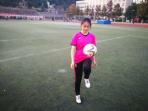 浙江女大学生醉心足球婉拒娱乐圈邀约:只想当个体育老师