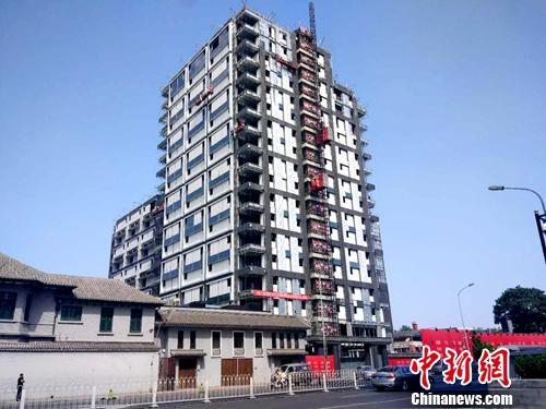 资料图:北京一处正在建设的楼房。<a target='_blank' href='http://www.chinanews.com/' >中新网记者 李金磊 摄