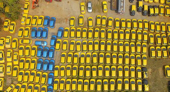 南京停运出租车场