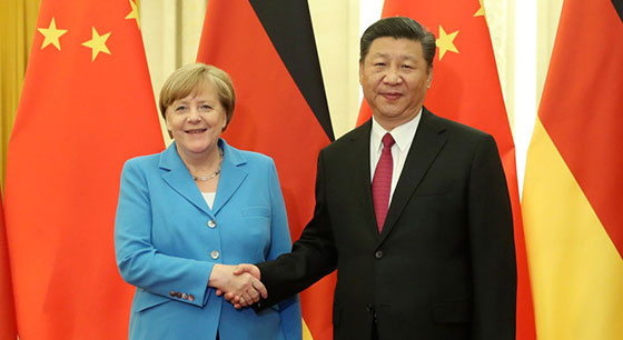 习近平与德国总理默克尔举行会晤
