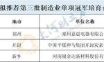 31家豫企入围河南第三批制造业单项冠军企业