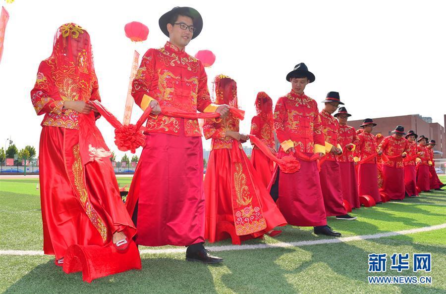 #(社会)(1)河北石家庄:教师集体婚礼