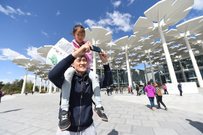 小朋友纷纷来打卡 北京世园会亲子游欢乐多