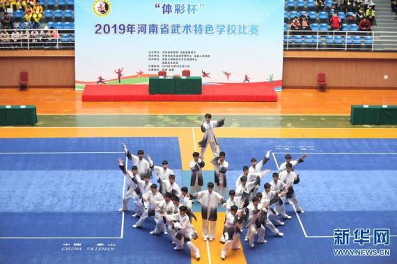 2019年河南省武术特色学校比赛在陈家沟举行