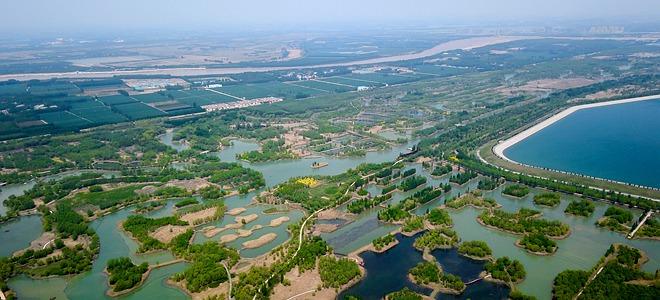 泉城济南:济西湿地春色美
