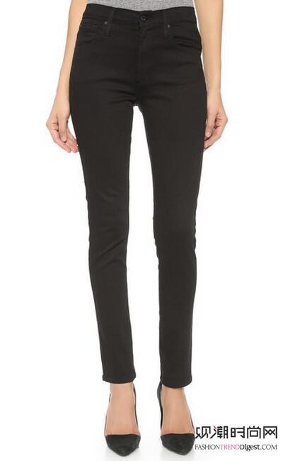 国制造这款清爽紧身牛仔裤采用迷人高腰设计,5口袋设计.-王珞丹