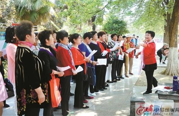 徐州泉山區奎園社區用最美藝術 秀文明之花