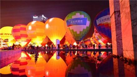 中国热气球俱乐部联赛正在举行