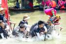 西溪湿地各个水域龙舟赛开锣 越来越多的娃娃军加入