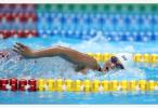 中国选手李冰洁获得亚运会女子1500米自由泳亚军