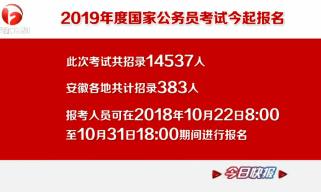"""2019年国家公务员考试报名结束 53个职位""""无人问津"""""""