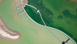 鸟瞰黄河口湿地风光
