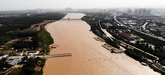 黄河2019年第3号洪水逼近 济南暂时拆除泺口浮桥